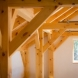 Photo by Benjamin and Company Timber Frames and Custom Homes. Custom Timber Frame Home in Maine - thumbnail