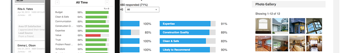 The best contractors rely on GuildQuality for customer satisfaction surveying