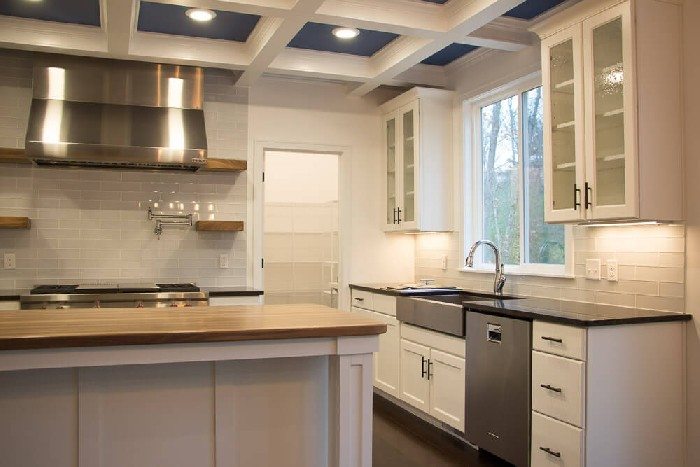 Side Of Kitchen Cabinets Paint Wood Grain Laminate